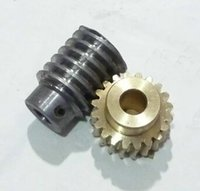 Wholesale 1 M T reduction ratio copper worm gear Reducer transmission parts gear hole mm rod hole mm