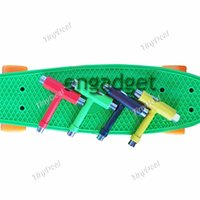 assembly screwdrivers - Skate Board T Type Assembly Tools Skateboard kit Screwdriver color send random