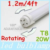 Wholesale CE ROHS New Rotating Base m ft LED T8 Tube Light W lm Warm Natrual Cool White Led Rotatable Tube Light V