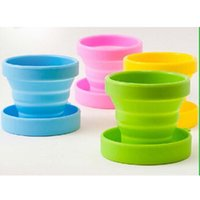 silicone cup lid - Silicone Collapsible Travel Cup With Lid Silicone Collapsible Cup Collapsible Silicone Cup Folding Cup