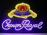 Wholesale NEW Crown Royal NEON SIGN REAL GLASS TUBE BEER BAR PUB Neon Light Signs store display