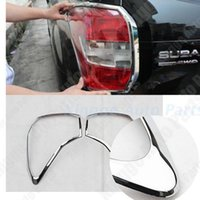 Wholesale 2x ABS Chrome Rear Tail Light Lamp Cover Trim For SUBARU FORESTER