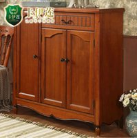 Wholesale American rustic style furniture solid wood vntage style shoes cabinet porch cabinet