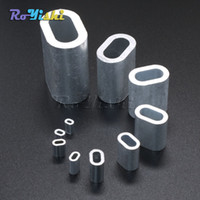 barrel sleeve - 100pcs Aluminum Cable Crimp Sleeve Cable Ferrule Stop for Snare Wire Rope Clip Swage Trap Barrel Fitting