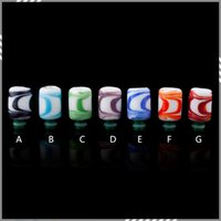 art rich - Glass Drip Tips Colorful Art Glass Drip Tip Rich Style Wide Bore Drip Tip For E Cigarettes Resin Glass DHL Free