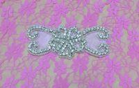 aa settings - Bowknot Pattem Crystal Rhinestone Applique Silver Settings Endless Rhinestone Bridal Headwear for Bridal Bridal Headband AA cm cm