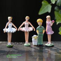 ballet dolls - mini microlandschaft cute craft Succulents moss micro landscape ornaments Ballet Girl doll ornaments DIY materials