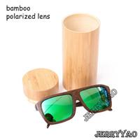 achat en gros de lunettes de soleil de bambou à la main-Lunettes de soleil de bambou de haute qualité faites à la main lunettes de bambou de lunettes de mouvement lunettes de soleil Polarized uv400 lunettes de soleil de style de mode