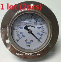 Wholesale Pressure Gauge mmHg PT Horizontal Vacuum Meter for Hydraulic Power Machine Pressure Gauge Manometer