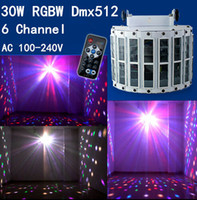 Wholesale 6 Channel RGBW Dmx512 W Stage Lighting Effect Voice activated Voice control Automatic Control LED Laser Projector DJ Home KTV Disco USA EU