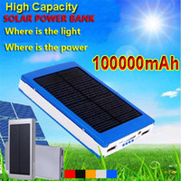 bank dvd - 100000mAh Solar Charger Power Bank Backup emergency Solar Battery External Chargers For Moblie Phone S6 s6 Edge Note HTC LG Sony PSP DVD