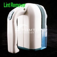 Wholesale White Portable Lint Remover Cordless Clothes Shaver Fuzz Clothing Clean Freeshipping Dropshipping