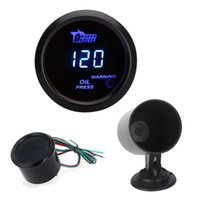 Wholesale Digital Oil Pressure Meter Gauge with Sensor for Auto Car mm in LCD PSI Warning Light Black