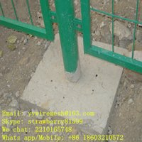 Wholesale 1 m Height and m Length Frame Wire Mesh Fencing With Concrete Base Shijiazhuang Supplier
