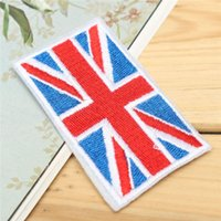 Wholesale DIY Embroidery Jeans Fabric Sticker Patch Union Jack UK Flag Badge Clothes Bags Ornament Sewing Applique DIY quot x quot