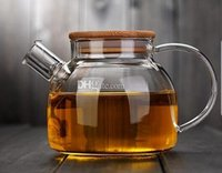 Wholesale Fashion Hot ml Heat Resistan ml Heat Resistan Glass Teapot simple tea kettle tea pot Convenient Office Tea Pot coffee pot