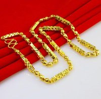Wholesale 50CM Men s K gold plated Buddha bead necklace Do not fade wedding necklace Popular Jewelry Christmas gifts W