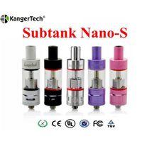 Wholesale Kangertech Clone Subtank Nano S Atomizer Colors Kanger Sub Ohm Tank for subox nano KBOX nebox vapor mods e cig