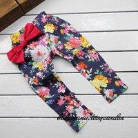 Leggings & Tights big leg pants - Baby girl kids dress tutu flower rosette floral tights legging skinny pants Jeans flower harem floral harem cotton elastic big bow pc