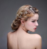 Wholesale 2016 New Crystal Pearl Party Wedding Hair Accessories Bridal Headband Tiara Headwear Silver Pearls Bridal Crown Headbands CPA471