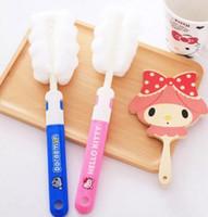 Wholesale Kawaii Cartoon Hello Kitty Doraemon Home Sponge Water Bottle Cleaning Clean Brush