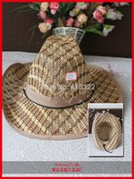 bamboo canopy - Simple Style Bamboo Weaving Visor Natural Cool Cowboy hats Sun Hats Large Canopies Visors