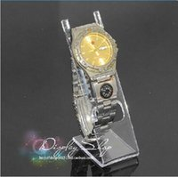 Wholesale Hot sale L type Clear plastic Watch Display Rack Jewelry Bracelet Watch Stand Holder Rack pieces