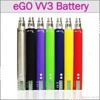 1300mAh Adjustable Stainless Steel + Chromed Brass eGo vv3 Mega Variable Volt Watt 1300mah Ecigarette Battery eGo-V V3 V V3 Mega Battery Starter Kit With LCD Display eGo v vv2 v3 Vision