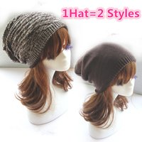 beanies new look - Hat Styles Winter Beanie Knitted Hat Soft Elastic Beanie New For Women Men Ski Winter Novelty Look