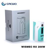Wholesale electronic cigarettes Vape Mods Original Wismec Rx200 Releaux w e cigs Temperature Control TC Box Mods Wismec RX