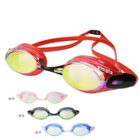 anti ultraviolet - Summer Fashion Woman Water Sports Waterproof Eyewear Chromed Goggle Anti fog Anti Ultraviolet Adjustable Diving Swimming Glasses