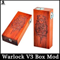Wholesale Warlock V3 Box Mod Wooden Dual Battery E Cigarette Mechanical Mod For Thread RDA RBA Atomizers