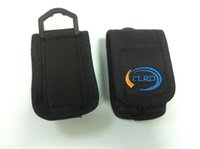 Wholesale Handmade nylon pouch for cylinderical battery battery black nylon belt pouch CL B2 with clip