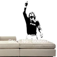 Wholesale mm mm New Wall sticker TOTTI A S Roma Serie A Football Wall Mural Decal Home Decor Art Vinyl T