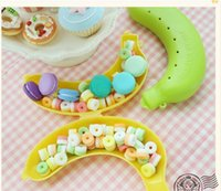 baby furnishings - Baby Dishes Creative Banana Box Storage Box Biscuit Candy Child Furnishings Portable Banana Snack Box