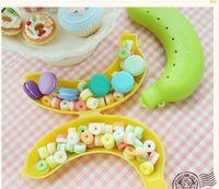 baby furnishings - Baby Dishes Creative Banana Box Storage Box Biscuit Candy Child Furnishings Portable Banana Snack Box