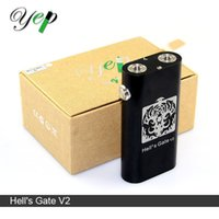 Wholesale Authentic Yep Hell s Gate V2 Box Mod ohm Dual Thread fit RDA Original Yep Hells Gate Mod v Chainsmoker with RDA Starter Kit