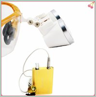 dental loupes - High Quality Yellow magnifying glass X420 Medical Surgical loupes Dental Loupes medical loupes head loupes with LED light