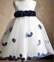 achat en gros de longueurs de hemline-Robe sans bretelles fille fleur / Enfants robe pour WeddingFlower Girl Dress Robe sans manches Hemline / Train Robe Silhouette manches longues