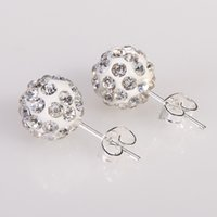 Wholesale Color MM Shamballa Brand Earrings Micro Disco Ball Shamballa Crystal Stud Earring For Women Fashion Jewelry