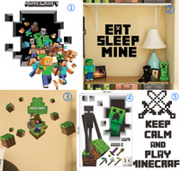 wall decoration wallpaper - 3D Walls Minecraft Wall Stickers Creeper Decorative Wall Decal Cartoon Wallpaper Kids Party Decoration Christmas Wall Art Exclusive Sale