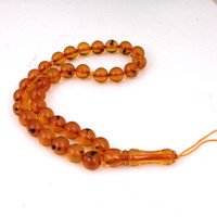 amber semi precious stone - Top Selling New Charms Amber Prayer Beads Bracelet Unisex Natural Semi precious Stone African Indian Amber Beads Jewelry mm