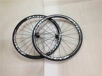 Wholesale Top quality Full carbon Wheelset assembled clincher Tulubar Clincher K weave wheels mm full carbon raod bike wheelsets