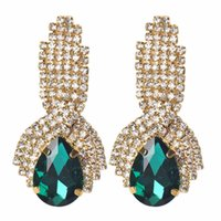 Wholesale 2016 new fashion crystal earrings water drop shaped earrings for women High Quality Wedding Jewelry hot sale