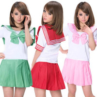 Wholesale 2015 New arrival Hot sale best quality Fashion Colors Japanese Japan School Uniform Dress Cosplay Costume Anime Girl La