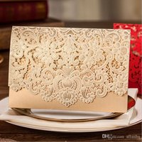 Wholesale 2016 Red Floral Laser Cut Wedding Invitations Table Card Seat Card Place Card For Wedding Favors And Gift