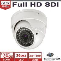 "Cheap 1 2.8"" Sony Exmor IMX122 2.0 mega pixel 1080P HD SDI cctv camera 2.8~12mm IR Vision Vandalproof dome security camera"