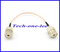 Wholesale 10 pieces Extension cord RG316 UHF Female to UHF Jack Connector Adapter cm Cable