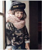 Cheap child long sleeve tees Best camouflage color tops