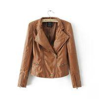 Cheap Leather Motorcycle Jacket Best Women Leather outwear